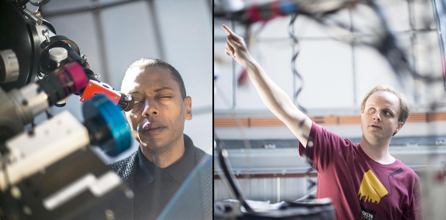 Lucas leidt Jeff Mills rond op sterrenwacht Amsterdam, 31 augustus 2016